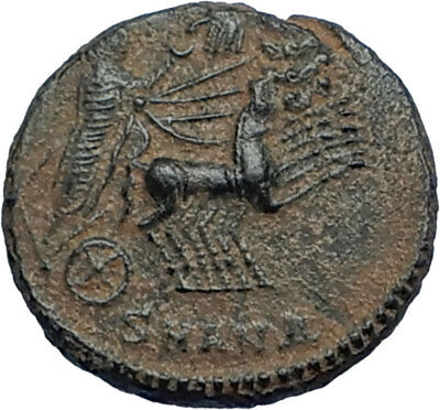 CONSTANTINE I the Great CHARIOT to GOD HAND in HEAVEN Ancient Roman Coin i68036