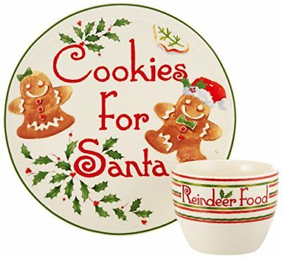 Lenox 2 Piece Countdown to Christmas for Santa Cookie Plate and Bowl Set Ivory