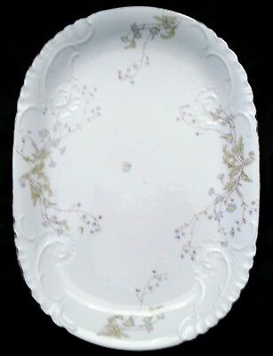 Exquisite antique Limoges porcelain hand painted platter, Mid 1800'