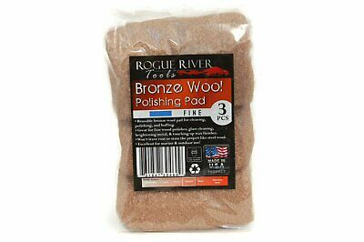 (3 Pack) Bronze Wool Pads by Rogue River Tools - Fine Grade