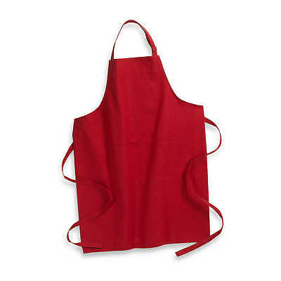 Solid Oversize Kitchen Baking BBQ Chef Cooking Stain-Resistant Apron Cover Red