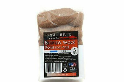 (5 Pack) Bronze Wool Pads by Rogue River Tools - Fine Grade