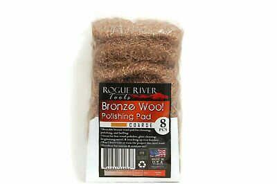 (8 Pack) Bronze Wool Pads by Rogue River Tools - Coarse Grade
