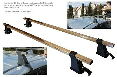 """【ON SALE】48"""" NEW Stainless Steel Universal Car Top Roof Rack Cargo Carrier Rack"""