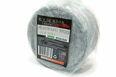 (1lb) Aluminum Wool Roll by Rogue River Tools - Medium Grade