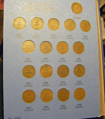 1920 -1969 Canadian Cent Collection in Whitman 9062