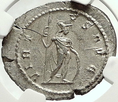 POSTUMUS Authentic Ancient 262AD Roman Coin VIRTUS NGC Certified MS i68151