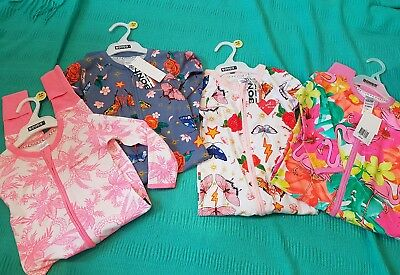 Bonds Wondersuits Jungle Book Floral Pink Girls Nwt lot size 2