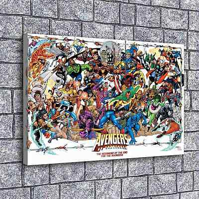 2873-avengers List Painting HD Print on Canvas Home Decor  Wall Art Picture