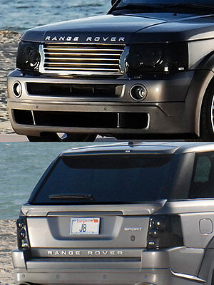 06-09 Range Rover Sport GTS Smoke Acrylic Headlight Taillight Covers 4pc Set NEW