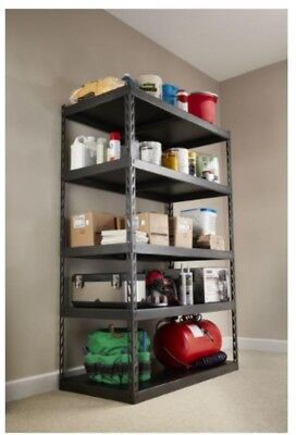 Home Garage Storage Organization Heavy Duty Shelf Steel Shelving Rack Unit Black