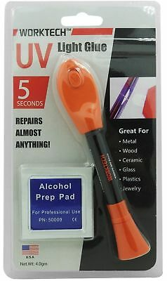 WorkTech Premium NON-TOXIC 5-Second UV Light Glue Welding Repair Almost Anything