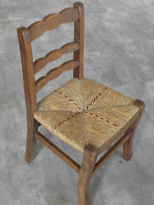 Vintage Chair wood Oak antique Farmhouse Stool Children Bench Seat Kid armchai