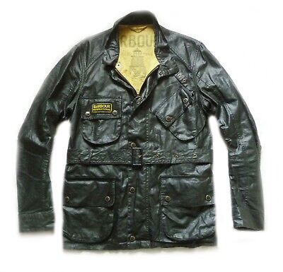 Stunning Barbour International Biker Belted Style Jacket   - Small - Xcon - £195