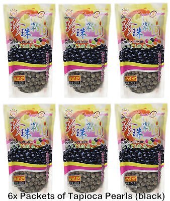 6 x 250g Wufuyuan Tapioca Pearl Black Colour for Bubble tea drink AU Seller!