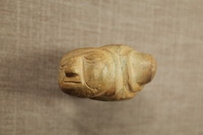 Pre-Columbian MesoAmerican Carved Stone Mace Head
