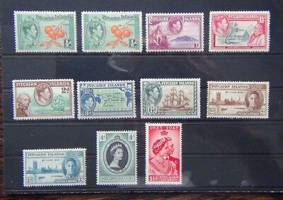 Pitcairn Island 1940 to 6d 1946 Victory 1953 Coronation MM