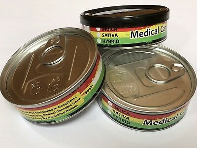 Strain Labels - Cannabis- Wrap Around Stickers for 3.5g Tuna Cans/Tins