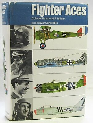 Toliver & Constable. FIGHTER ACES. 1st ed, 1965, aviation, WWI, WWII, Korean War