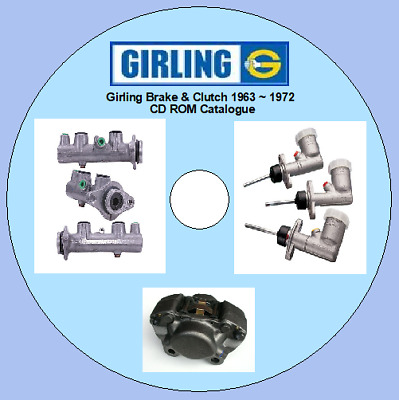 Girling Brake, Clutch Hydraulics & Shock Absorbers Catalogue 1963-1972