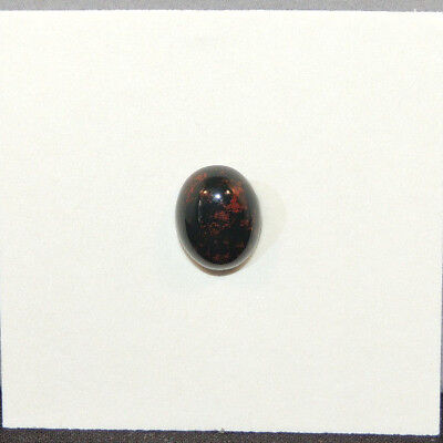 Bloodstone Cabochon 10x8mm with 4mm dome from India (13496)