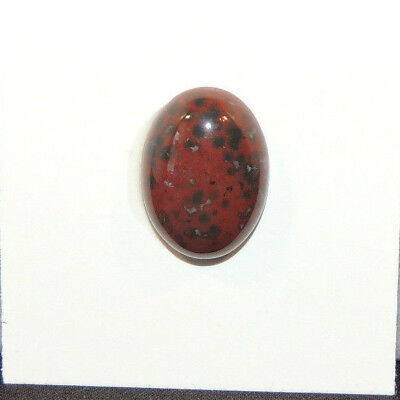 Bloodstone Cabochon 13x18mm with 6mm dome from India  (13500)