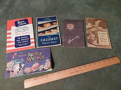 (LOT of 5) Cookbook Pamphlets [1924-'40s] Clabber Girl_Iglehearts_Calumet (USA)