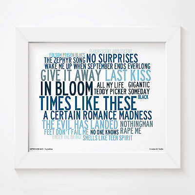 Art print SUPPRESSION Vol 3 lyrics poster by LAS, genre inspired by Pearl Jam