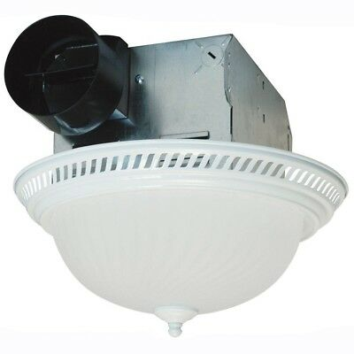 Air King Decorative Bath Fan With Light Ceiling Bathroom Exhaust 70 CFM White