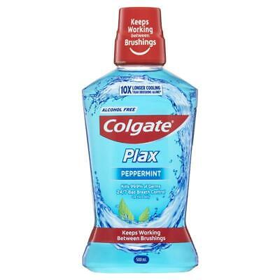 Colgate Plax Alcohol free Antibacterial Mouthwash Peppermint 500mL