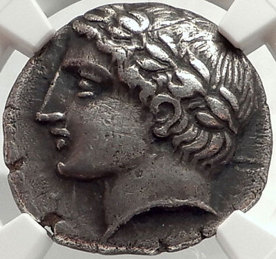 DAMASTION ILLYRIA 365BC RARE R1 Ancient Silver Greek Tetradrachm Coin NGC i68156