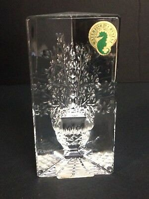 Waterford Crystal Signed Fred Curtis 2000 Flower Bouquet Sculpture