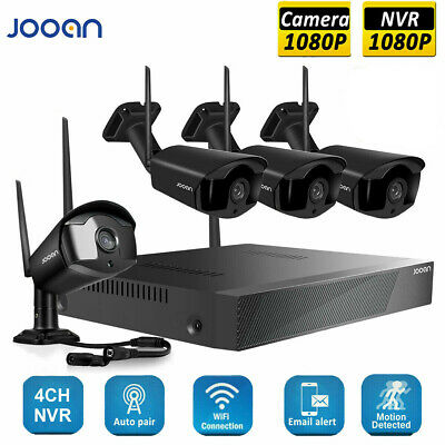 JOOAN 4CH 1080P Wireless WIFI Camera NVR Security System Surveillance Kits CCTV