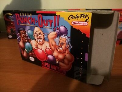 Super Punch-Out Box Only SNES Replacement Art Case/Box!! Punchout!!!