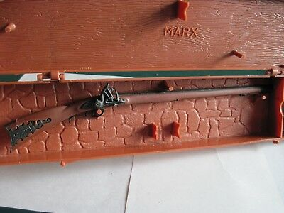 VINTAGE MINIATURE MARX Historic Gun The Kentucky Rifle w/ Case and Paper