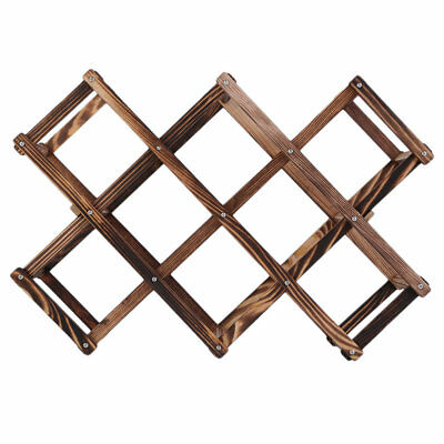 Wooden Red Wine Rack 10 Bottle Holder Mount Kitchen Bar Display Shelf 5Nx
