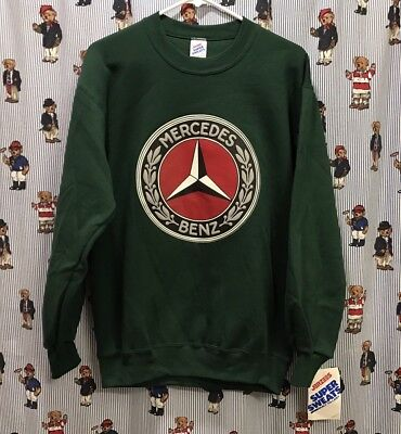 NWT Vintage 80s 90s Mercedes-Benz Sports Car Racing Crewneck Sweatshirt - Medium
