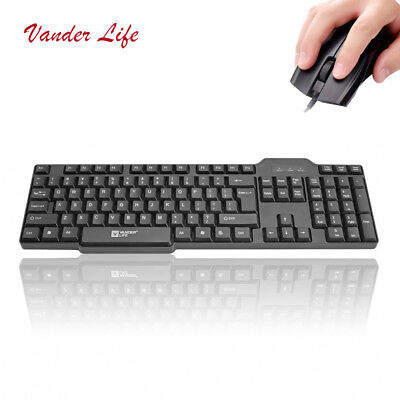 E-sports Gaming Wired Waterproof keyboard And Optical Mouse Set Plug And Play