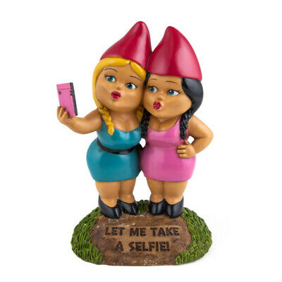 The Selfie Sisters Garden Gnome NEW