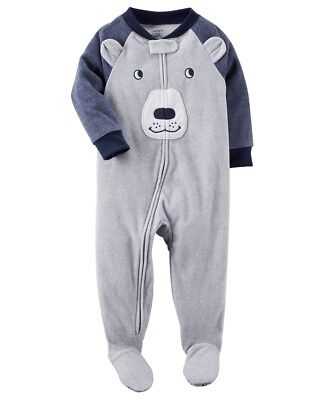 153663d74193 NEW CARTER S TODDLER Boys Striped T-Rex 1-Piece Footed Pajamas 3T ...