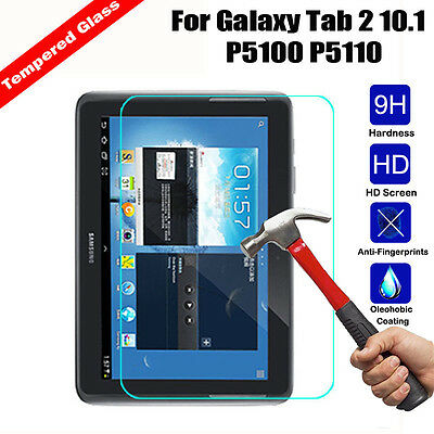 Tempered Glass Screen Protector Film For Samsung Galaxy Tab 2 10.1 P5100 P5110
