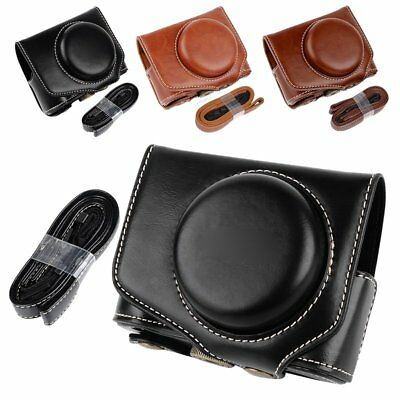 US PU Leather Camera Bag Case Cover For Canon Powershot G7XII G7X II G7X Mark II