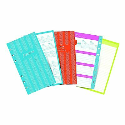 Filofax 2018 Personal Compact Refill Week to View Illustrated Stripes 5 6.75