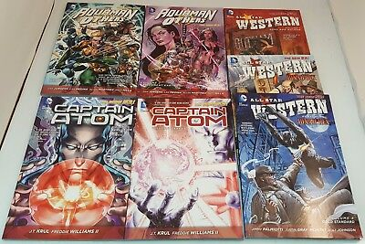 Lot of 7 DC Comics New 52 Trade Paperbacks~All-Star Western~Captain Atom~Aquaman