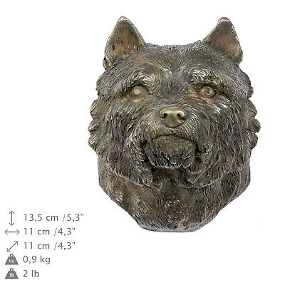 Norwich Terrier, dog statuette to hang on the wall, Art Dog Limited Edition, USA