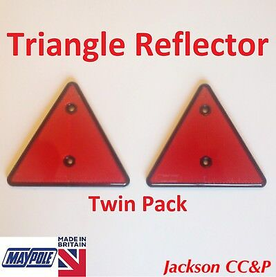 Maypole Red Reflector Triangle TWIN PACK for Trailers Caravan Towing Safety