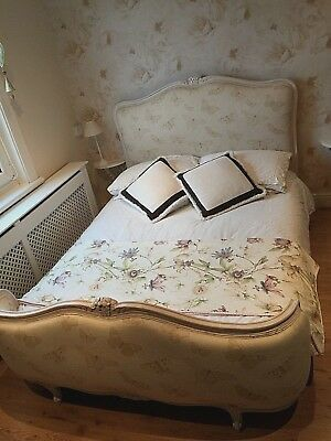 French bed Double Bed Antique vintage & matching dressing table and stool