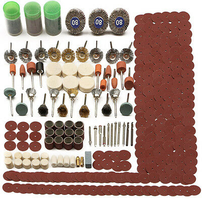 AU 350Pcs Universal Set Rotary Tool Accessory For Grinding Sanding Polishing Kit