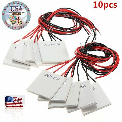 1-10pcs 12V 60W TEC1-12706 Heatsink Thermoelectric Cooler Peltier Cooling LI