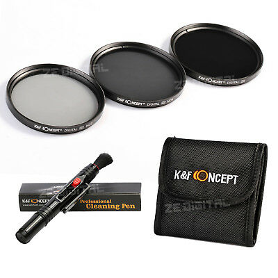 67mm ND Filter Kit Neutral Density ND2 ND4 ND8 Filtres for Canon/ K&F Concept